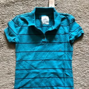 American Eagle striped polo nwt